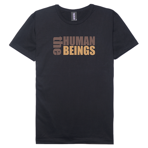 Human being design black color cotton T-shirt