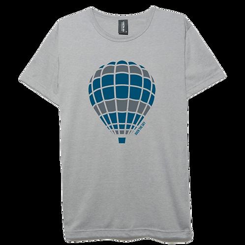 Balloon design light gray color cotton T-shirt