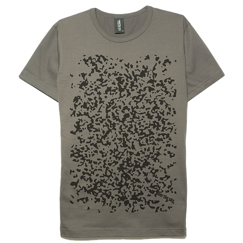 Spots design gray color cotton T-shirt