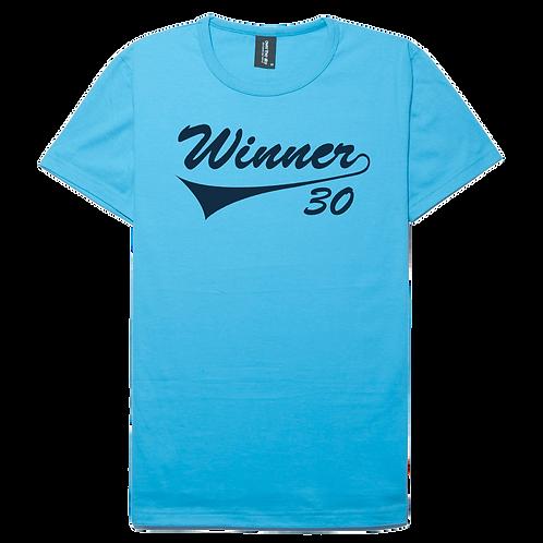 Winner design sky blue color cotton T-shirt