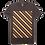 Stripe design brown color cotton T-shirt