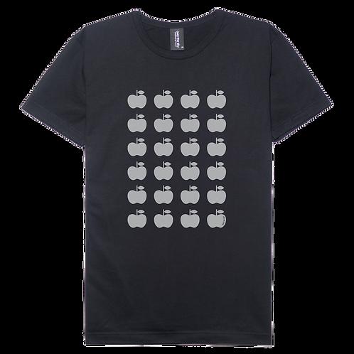 Apple design black color cotton T-shirt