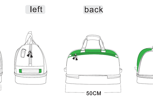 LPGA Golf Lifestyle Bag - White and Green