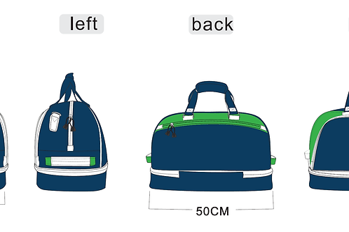 LPGA Professional Golf Lifestyle Bag - Blue and Green