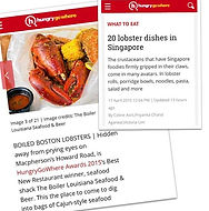 The Boiler - Top 20 lobster dishes in SIngapore as featured in HungryGoWhere