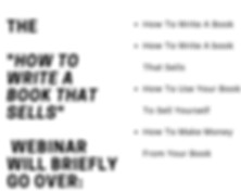 The -How To Write A Book That Sells- Web