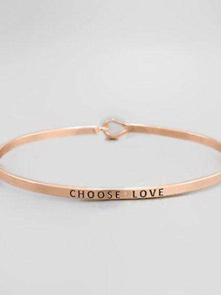 Philosophy Bracelet - Choose Love