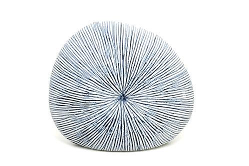 The Andaman Palm Vase -Blue Stripe