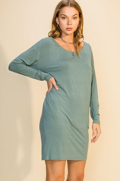 Montauk Lounge Dress -Sage