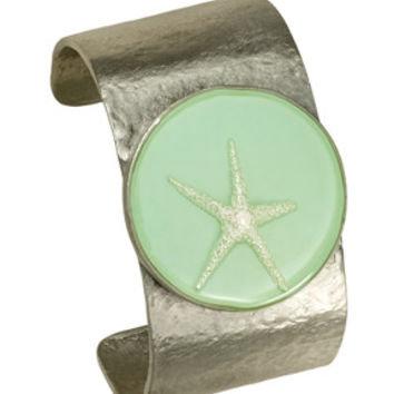Large Silver Starfish Cuff