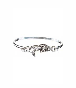 Silver Dipped Mermaid Bangle