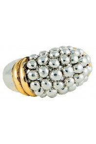 Caviar Mixed Metal Ring