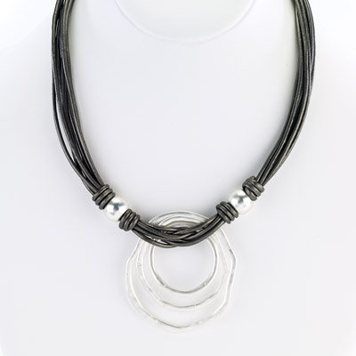 copy of St. Tropez O Layer Necklace Silver