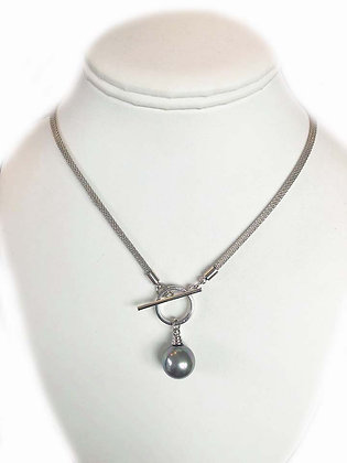 The Island Toggle Necklace Gray