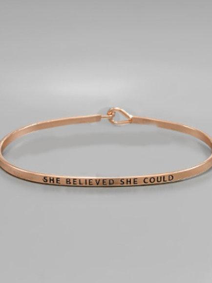 Philosophy Bracelet - She Believed