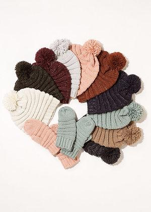 Coastal Knit Pom Hat