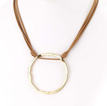 St. Tropez Leather O Necklace