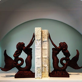 Iron Mermaid Book Ends