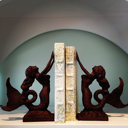 Iron Mermaid Bookends