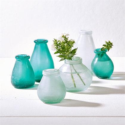 Artisan Sea Glass Bud Vases