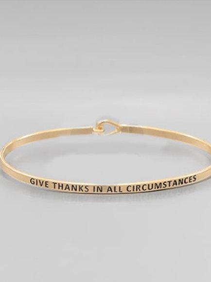 Philosophy Bracelet - Give Thanks