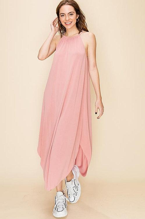 Montauk Lounge Tank Dress I Rosé