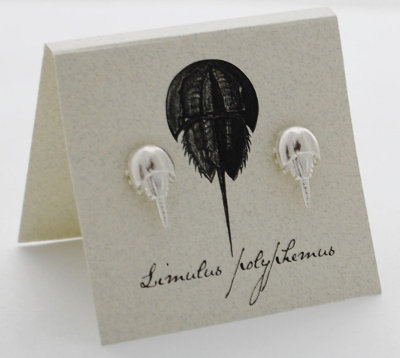 Horseshoe Crab Earrings Sterling