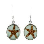 Natural Starfish Drop Earrings