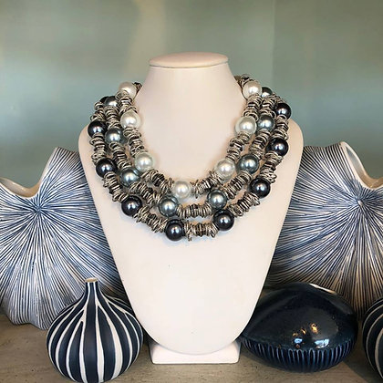 African Shell Pearl Necklace