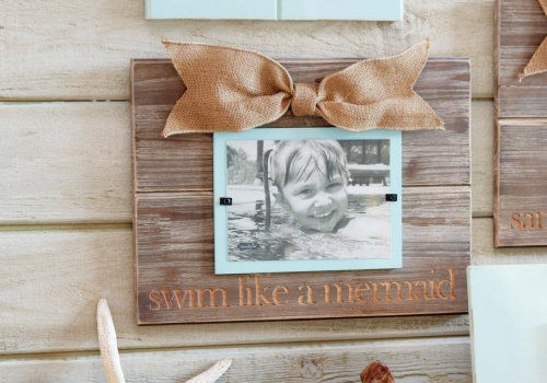 Swim Lime a Mermaid Frame