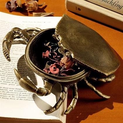 Bronzed Crab Trinket Box
