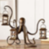 Bronzed Octopus Lantern
