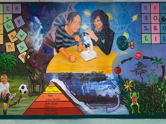 MA Alum is High School's First Muralist-in-Residence