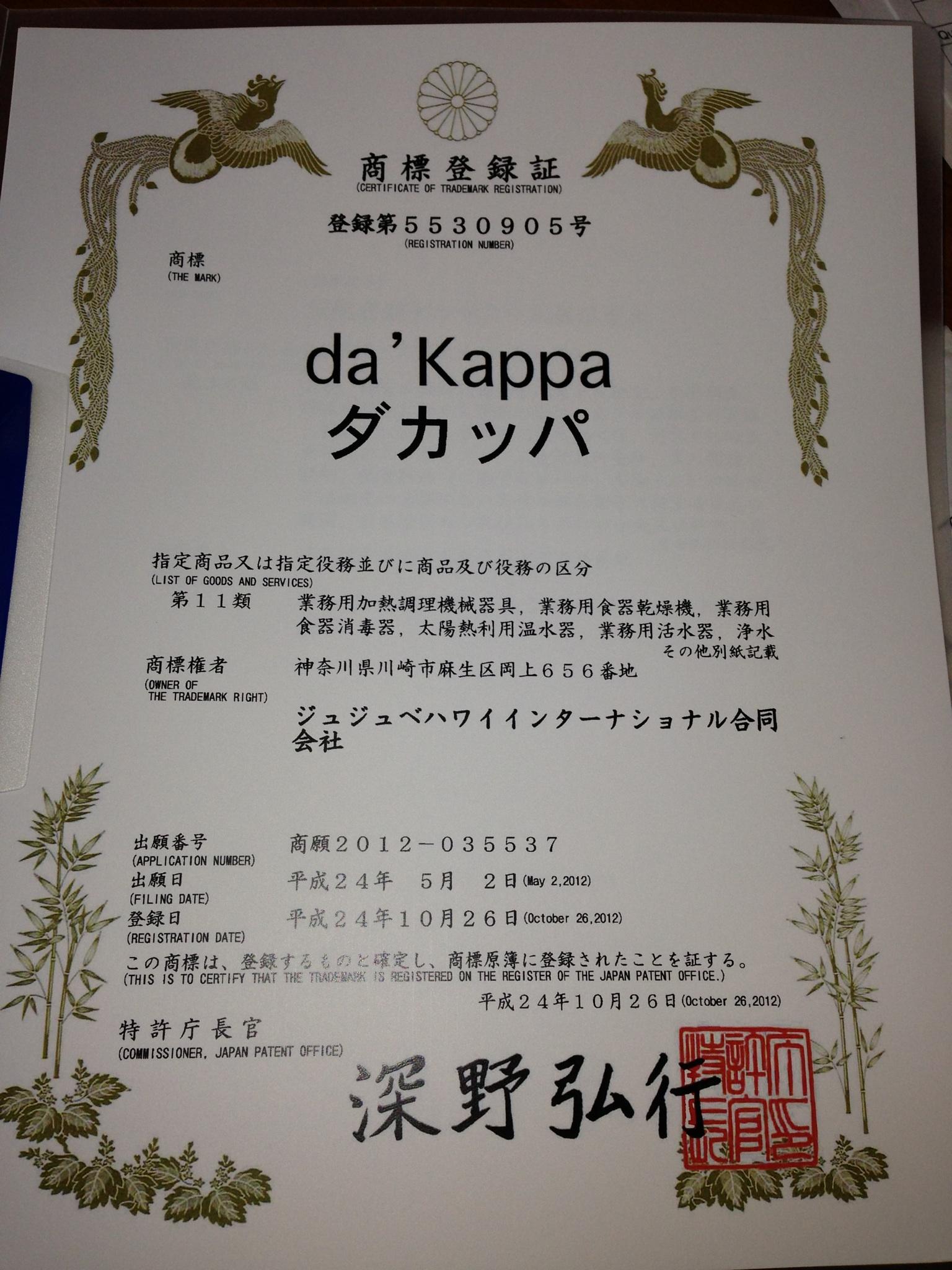 ダカッパの商品登録