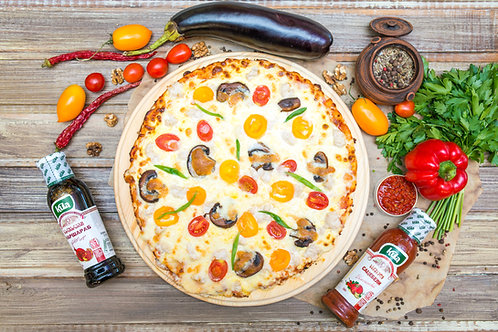 Домашняя пицца с филе курицы