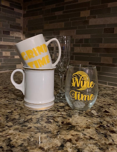 Wine & Grind Drinkware Set