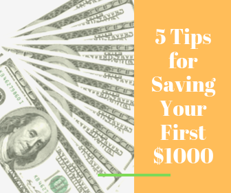 5 Tips to Save Your First $1000