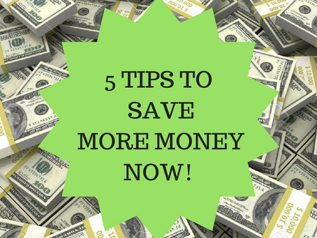 5 Things That'll Save You Money Now