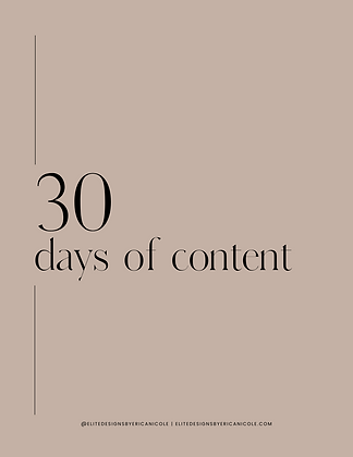 30 Days of Content