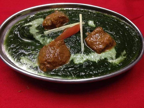 ほうれん草マトンカレー(Spinach Mutton Curry)