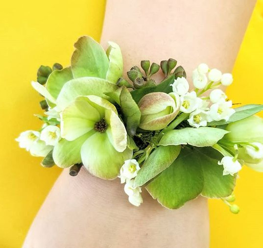 Spring corsage for my daughter's piano r