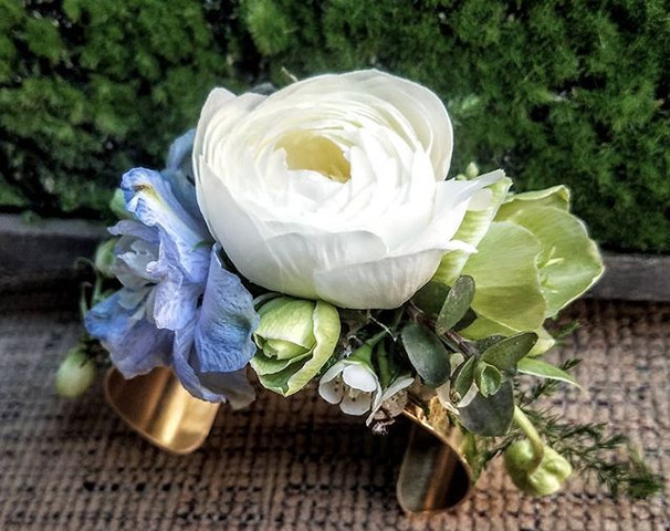 I love a wrist corsage--especially this