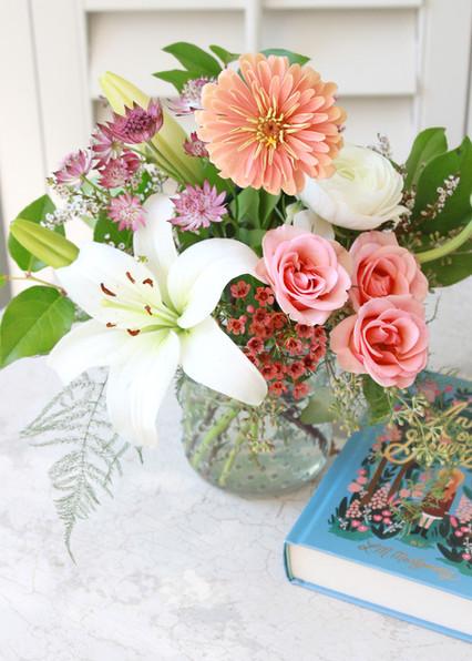 bedside flowers witn Anne