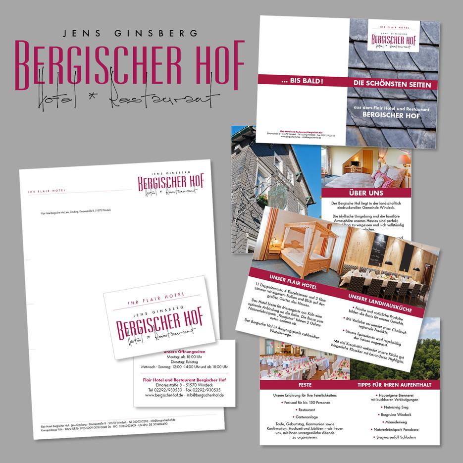 Bergischer-Hof Printdesign