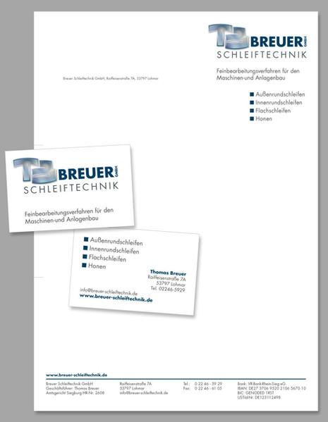 Breuer Schleiftechnik Geschäftspapier