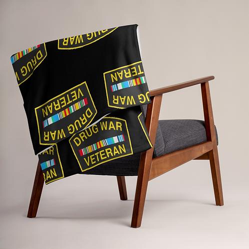 Drug War Veteran Throw Blanket