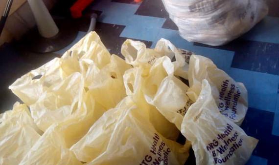 Donation of personal care products at a local Health Center in Alomaja, idi Ayunre Along Ijebu-Ode, Ibadan, Nigeria