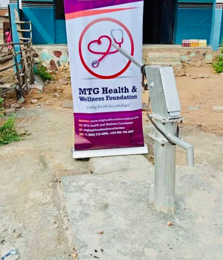 Our first ever borehole project in Oyo town.