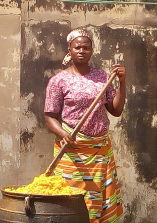 cooking of jollof rice, a nigeria delicacy