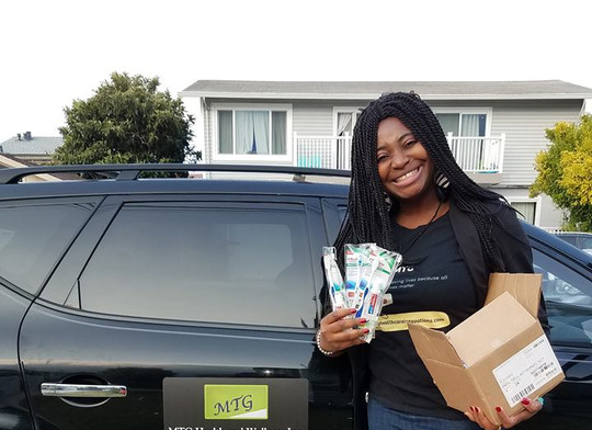 Donation of personal care items to the less privileged at LifeMoves, San Mateo, CA on August 22,2018